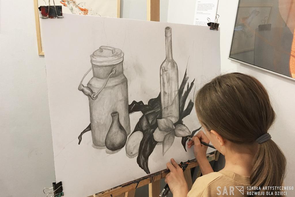 Zajęcia dla dzieci Kurs rysunku i malarstwa (klasy 4-6) w Warszawie
